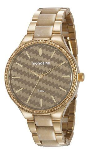 Relógio Mondaine Feminino Redondo Dourado 76713lpmvde3