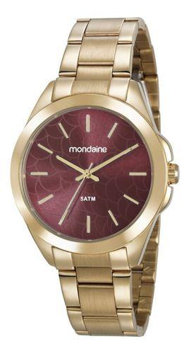 Relógio Mondaine Feminino Redondo Dourado 78750lpmvda2