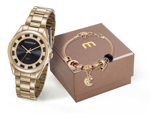 Relógio Mondaine Feminino Redondo Dourado 83384lpmvde1k1