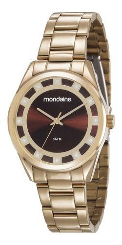 Relógio Mondaine Feminino Redondo Dourado 83384lpmvde2k2