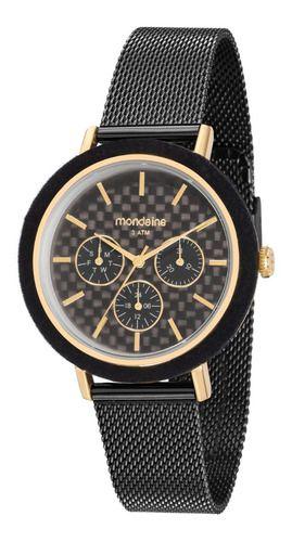 Relógio Mondaine Feminino Redondo Dourado 89011lpmvhe1