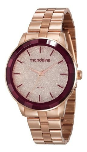 Relógio Mondaine Feminino Redondo Rose Gold 53710lpmvre3