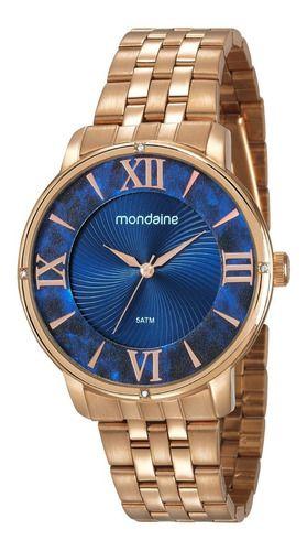 Relógio Mondaine Feminino Redondo Rose Gold 53715lpmvre2
