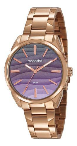 Relógio Mondaine Feminino Redondo Rose Gold 53716lpmvre4