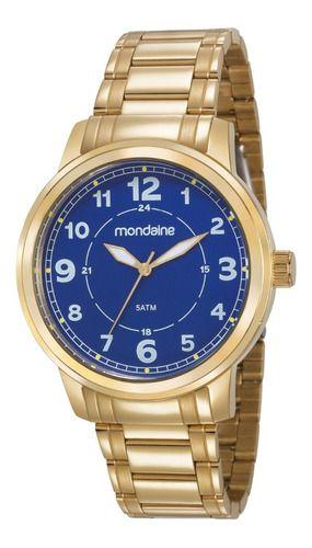 Relógio Mondaine Masculino Redondo Dourado 83418gpmvda2