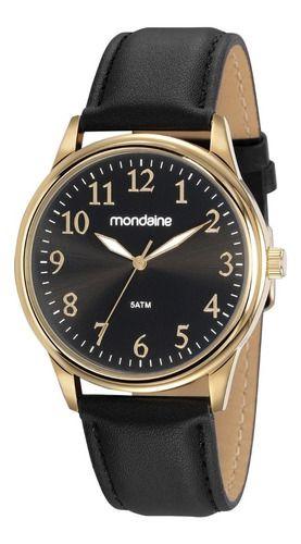 Relógio Mondaine Masculino Redondo Dourado 83470gpmvdh2