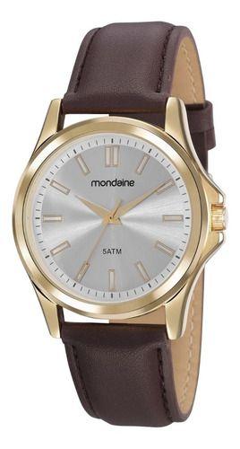 Relógio Mondaine Masculino Redondo Dourado 83472gpmvdh2