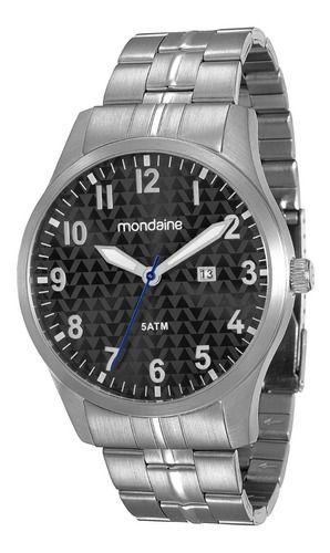 Relógio Mondaine Masculino Redondo Prata 78651g0mvna1
