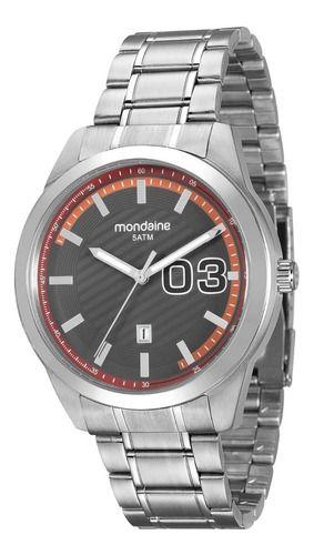 Relógio Mondaine Masculino Redondo Prata 99099g0mvna1