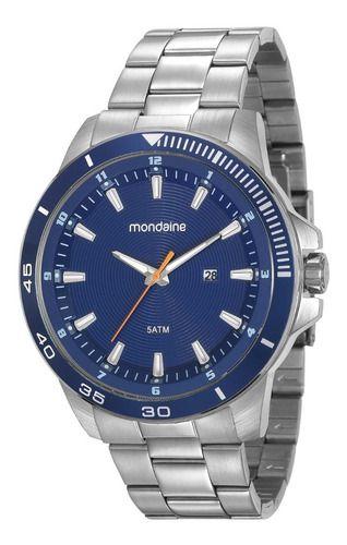 Relógio Mondaine Masculino Redondo Prata 99284g0mvns1