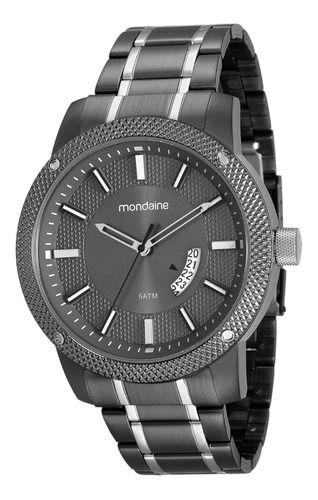 Relógio Mondaine Masculino Redondo Preto 99048gpmvsa1