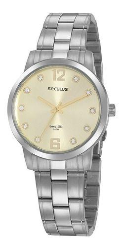 Relógios Seculus  Feminino Redondo Champagne 20952l0svna2
