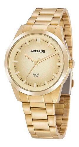 Relógios Seculus  Feminino Redondo Champagne 20953lpsvda2