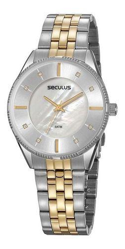 Relógios Seculus  Feminino Redondo Madreperola 77071lpsvbs2