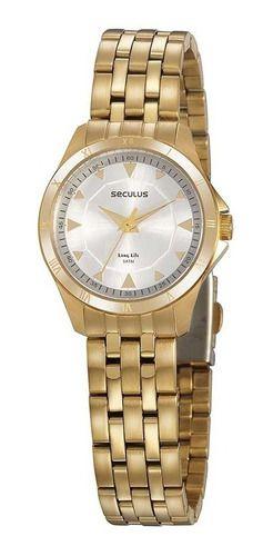 Relógios Seculus  Feminino Redondo Prata 20919lpsvda1