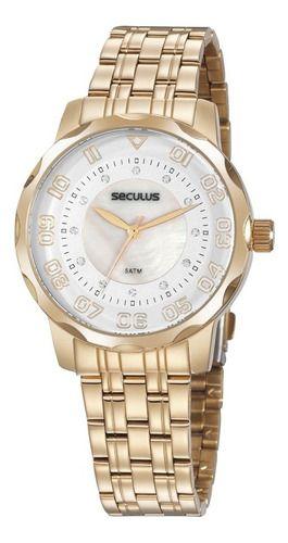 Relógios Seculus  Feminino Redondo Prata 20935lpsvds2