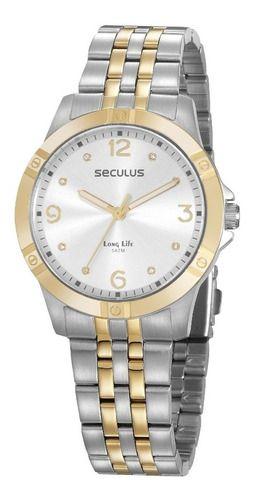 Relógios Seculus  Feminino Redondo Prata 20949lpsvba1