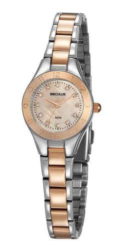Relógios Seculus  Feminino Redondo Rosa 20889lpsvgs3