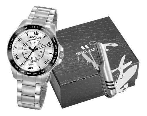 Relógios Seculus  Masculino Redondo Prata 20898g0svna4k1