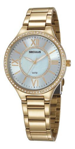 Relógios Seculus Feminino Redondo Azul 20750lpsvds3