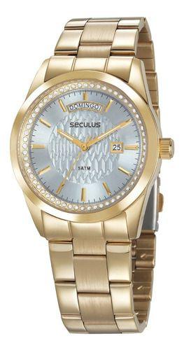 Relógios Seculus Feminino Redondo Azul 35002lpsvds3