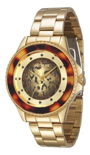 Relógios Seculus Feminino Redondo Champagne 23435lpsvds1