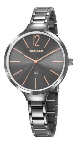 Relógios Seculus Feminino Redondo Cinza 20760lpsvss3