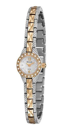 Relógios Seculus Feminino Redondo Prata 20452lpsvba2
