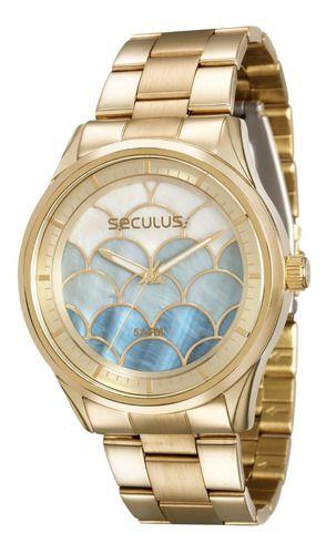 Relógios Seculus Feminino Redondo Prata 28777lpsvds1