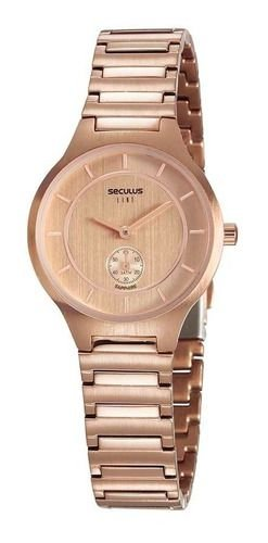 Relógios Seculus Feminino Redondo Rose Gold 20774lpsvrs2