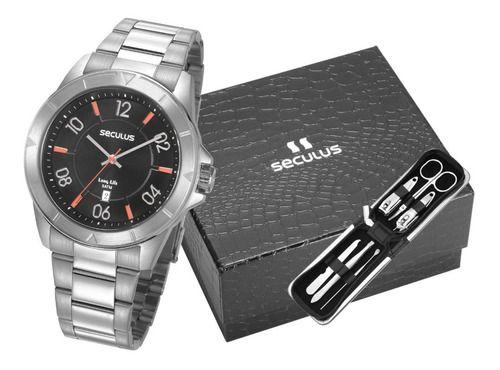 Relógios Seculus Masculino Redondo Prata 77032G0SVNA1K2
