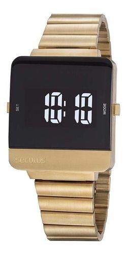 Relógios Seculus Quadrado Lcd Negativo 20871gpsvda1