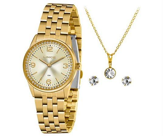 Relógio Feminino Lince Classic Analógico Dourado