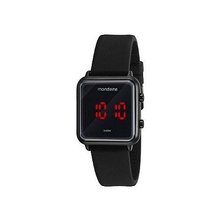 Relógio Mondaine Unissex LCD Negativo Digital