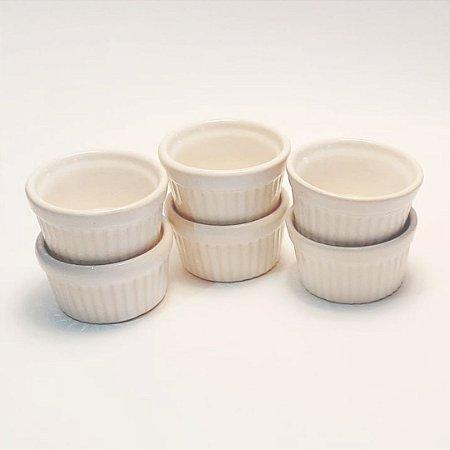 Conjunto Ramequim Decorativo P branco 6 peças