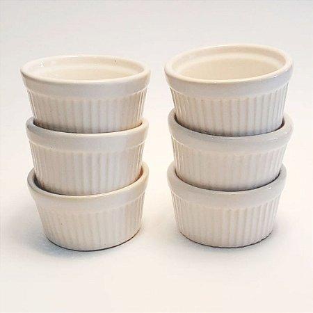 Conjunto Ramequim Decorativo G branco 6 peças
