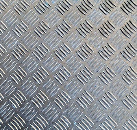 Chapa antiderrapante - 2000 x 1000 x 1,20 mm - (venda por chapa)