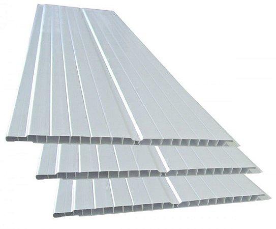 Forro de PVC branco - 200 x 14 mm - (venda por peça)