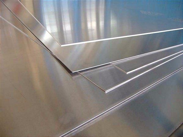 Chapa lisa de alumínio - 2000 x 1000 mm (venda por unidade)
