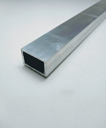 "Tubo retangular de alumínio 1 X 1/2"" - (venda por barra de 3m)"