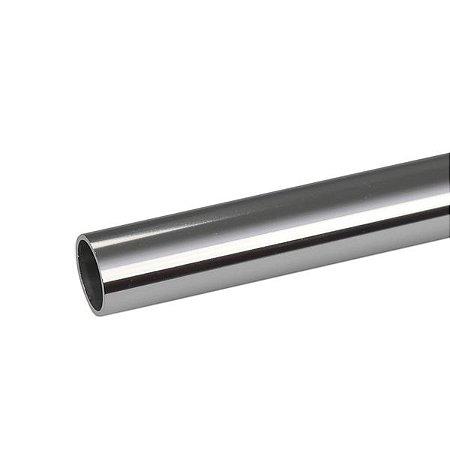 "Tubo redondo de alumínio 1"" - (venda por barra de 3m)"