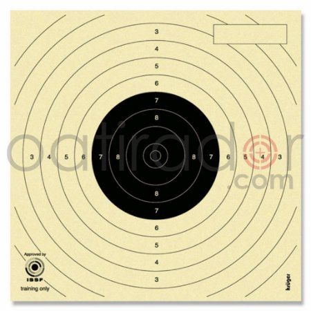 Centro Alvo Krüger Pistola Ar 13,5x13,5cm Mira Aberta 1000un