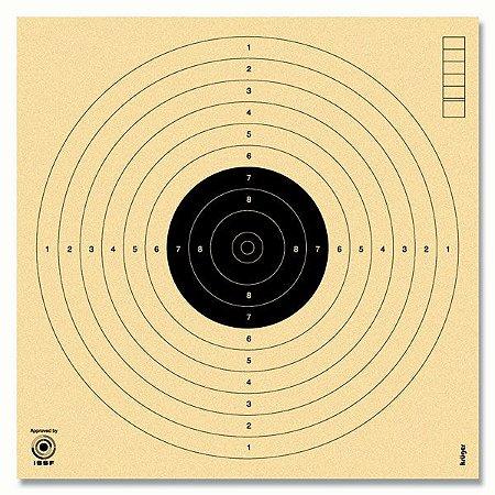 Alvo Krüger Pistola Ar 17x17cm Carabina Mira Aberta 100 unid