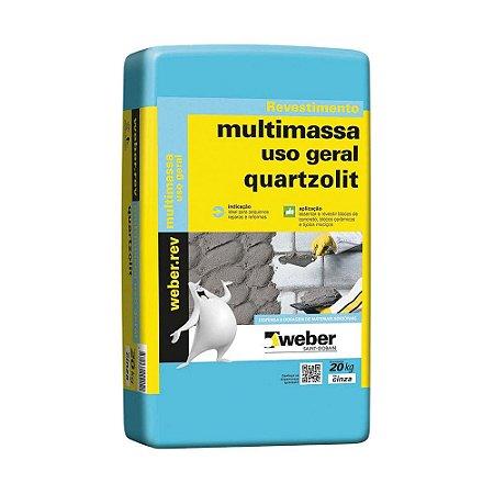 Argamassa 20kg multimassa uso geral Quartzolit