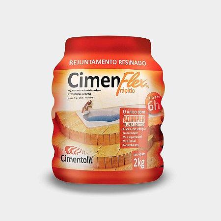 Rejunte 2kg resinado rápido Cimenflex Cimentolit