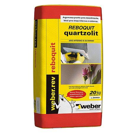 Argamassa 20kg reboquit Quartzolit