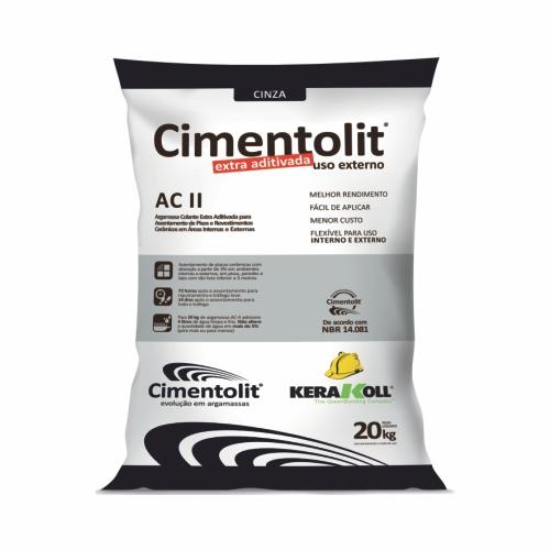 Argamassa 20kg colante extra aditivada AC-II Cimentolit