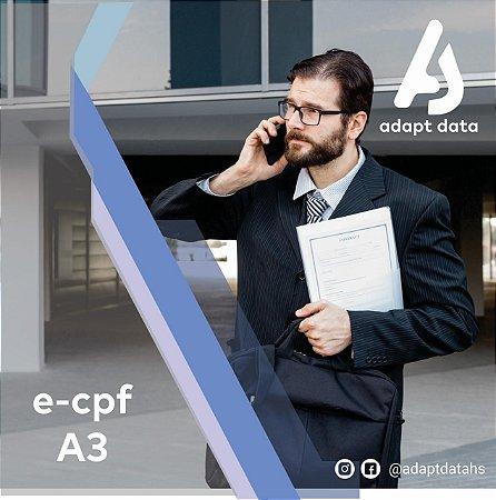 E-CPF A3 DE 1 ANO EM CARTÃO + LEITORA