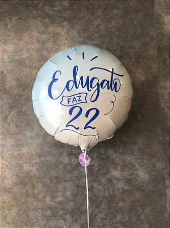 Balão Metalizado Com Gás Hélio Personalizado