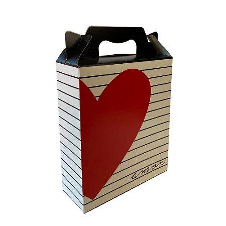 Caixa Maleta Vertical Amo Você 18x7,5x21 - Unitário